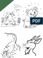 Uneix Els Punts i Pinta El Dibuix d'Animals