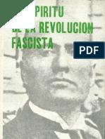 El Espíritu de la Revolución Fascista. Facsímil