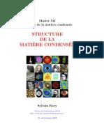 Structure de la matière condensée