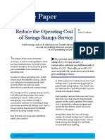 Savings Stamps White Paper