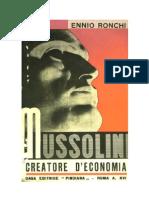 Mussolini creatore di economia 1936 (Italiano)