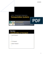 CE421 Lesson 2 Transportation Systems