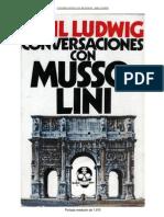 Conversaciones con Mussolini