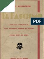 El fascismo. Benito Mussolini, José Antonio Primo de Rivera y Julio Ruiz de Alda