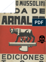 Vida de Arnaldo. Benito Mussolini. Facsímil