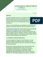 AQUISIÇÃO DE RECURSOS COMUNITÁRIOS