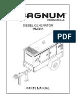 Magnum Diesel Generator Mmg35 Parts Manual