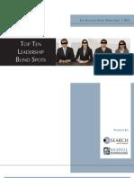 Top 10 Leadership Blind Spots