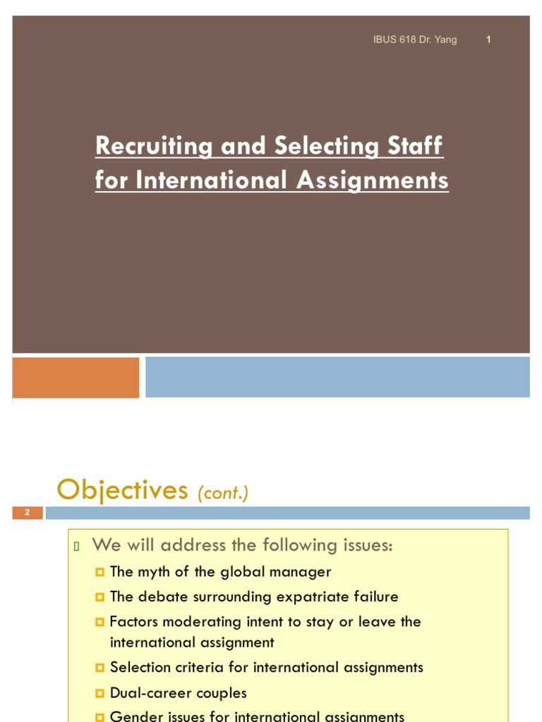 international assignments and global careers