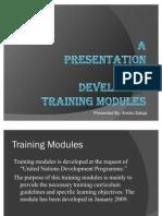 Anshu Training Modules Presentation