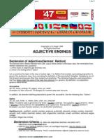 Adjective Endings