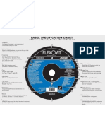Flexovit Abrasives - Label Specification Chart