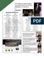 Renatus Bulletin 2.12.12