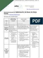 Administración y Optimización de Bases de Datos Oracle