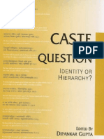 Caste in Question Identity or Hierarchy Contributions to Indian Sociology Occasional Studies 12