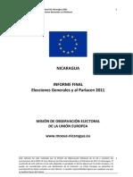 Informe Final Misión Observación Electoral UE Nicaragua 2011