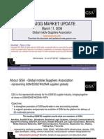 GSM 3G Market Update 03 2008