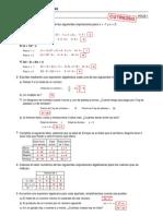 Refuerzo - Álgebra - Ejercicios (I) Soluciones