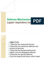 Defense Mechanism of Upper Respiratory Tract