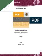 Matemáticas Administrativas ESAD