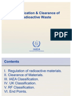 Classification & Clearance of Radioactive Waste (Принципы отнесения к РАО)