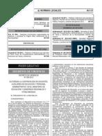 Decreto de Urgencia 006 - 2012