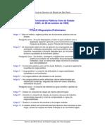 SP - Estatuto dos Funcionários Públicos