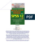 Cara Mudah Mengatasi Masalah Statistik Dan Rancangan Percobaan Dengan Spss 12