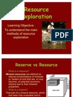 Resource Exploration