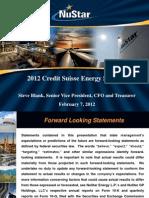 Nu Star en Credit Suisse Energy Summit FINAL
