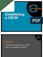SEA CBCM Workshop Session 4 - Establishing an Effective CBCM