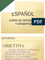 PRESENTACION ESPAÑOL-GRAMATICA