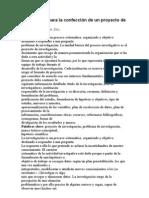 Metodología para la confección de un proyecto de investigación