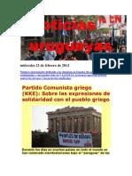 Noticias Uruguayas miércoles 22 de febrero de 2012