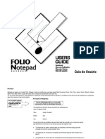 Spirit Notepad User Guide Portuguese