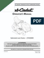Owner's Manual Cub Cadet 1020