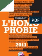 Rapport Annuel 2011 SOS Homophobie