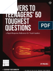 Answers to Teenagers' 50 Toughest Questions