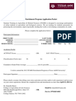 STARS Application Packet 2012-3