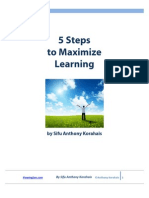 5 Steps to Maximize Learning