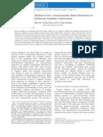 Intellectual Interest Mediates Gene × Socioeconomic Status Interaction on Adolescent Academic Achievement