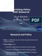 Enriching Policy With Research