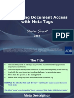 Facilitating Document Access With Meta Tags