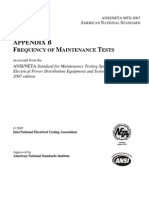 Frequency of Maintenance Tests