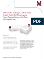 Millicell® HY Multilayer Culture Flasks Enable Higher Cell Recovery and Space Savings Compared to Other Multilayer Flasks