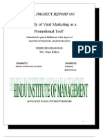 Project Report on a Study of Viral Marketing as a Promotional Tool