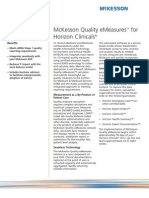 McKesson Enterprise Intelligence - Quality eMeasures for Horizon Clinicals