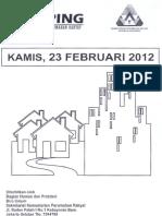 Scan KlipingBerita Perumahan Rakyat Dari Media Cetak, 23 Februari 2012
