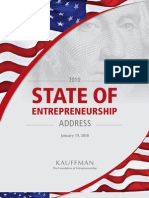 Buld a Stronger America State of the Entrepreneurship 2010