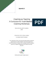 Coach Teach Curriculum